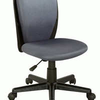 Black/Grey Fabric Back and Seat Youth Desk Chair