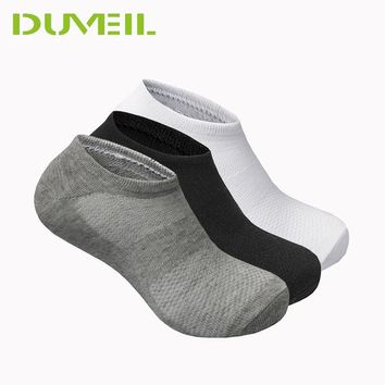 3Pairs/Lot 85% Cotton High Elastic Men Socks Slippers Soft Breathable Stealth Socks Thickening Hosiery German Quality