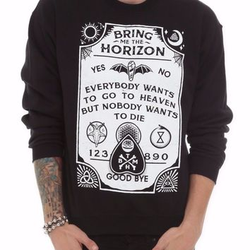 Bring Me The Horizon SPIRIT BOARD Pullover Sweater Sweatshirt 100% Authentic