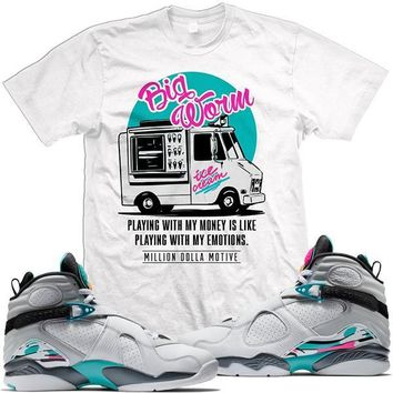 Jordan 8 South Beach Match Sneaker Tees Shirt - BIG WORM
