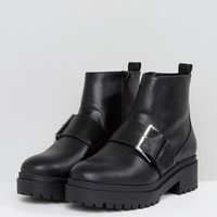 ASOS ACCELERATE Chunky Buckle Ankle Boots at asos.com
