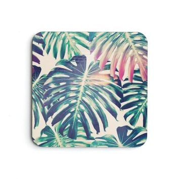 Tropical Palm Breeze Coaster Set