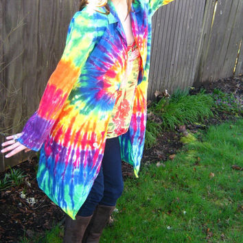 Tie Dye Lab Coat  Adult Medium