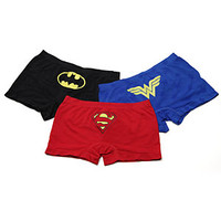 Superheroine Seamless Boyshorts 3-pack