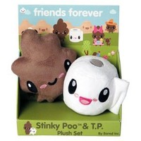 Stinky Poo and T.P. 'Friends Forever' Mini Plush Set