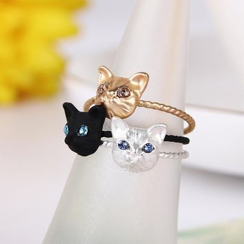 1 Piece Girls New Cute Animal Cat Rings