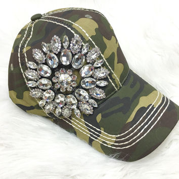 GLAM BASEBALL HAT IN CAMO