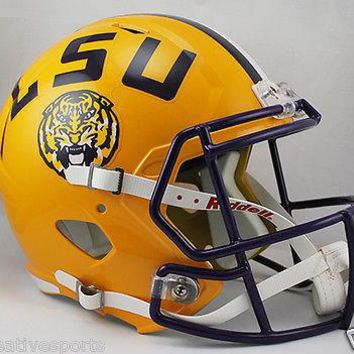 LSU TIGERS RIDDELL FULL SIZE DELUXE SPEED FOOTBALL HELMET