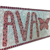 Mosaic Art, Personalized Name Sign