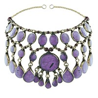 Evangeline Headdress Purple Jade