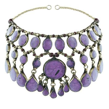 Rock N Rose // Evangeline Headdress Purple Jade