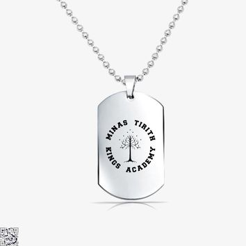 Minas Tirith Academy White, Lord Of The Rings Tag Necklace