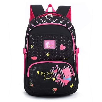 Fashion High Quality Students Backpacks School Bags Waterpfoof Schoolbag Kids Book Bag for Girls Children Backpacks