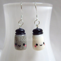 Salt and Pepper Shakers Kawaii Cute Polymer Clay Charm - Customizable