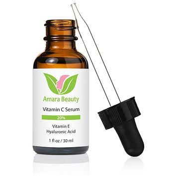 Vitamin C Serum for Face 20% With Hyaluronic Acid & Vitamin E – 1 oz