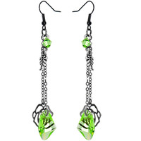Handcrafted Poison Ivy Dangle Earring MADE WITH SWAROVSKI ELEMENTS | Body Candy Body Jewelry