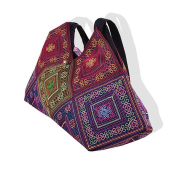 New National Trend Embroidery Rice dumplings Shoulder Bag Tote Handmade Embroidered Ethnic Characteristics Women's  Handbags