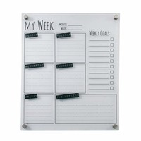 Cool White Acrylic Memo Board - 56994 by Benzara