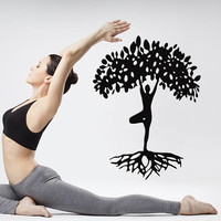 Tree of Life Wall Decal, Tree of Life Wall Sticker, Human Tree of Life Wall Decor, Circle of Life Decal Kabbalah Yoga Studio Decor se030