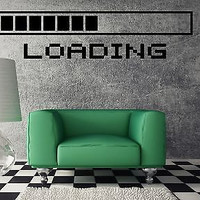 Wall Vinyl Sticker Decal Cool Gamer Stuff Computer Loading a Video Game (ig1169)