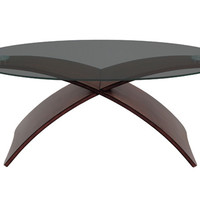 Criss Cross Wooden Coffee Table