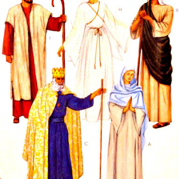 Adult Nativity Costume Pattern Easy to Sew Christmas Biblical Mary Joseph Three Kings Shepard McCalls 2339 Sewing Patterns Uncut Size Choice