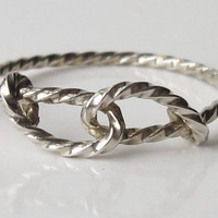 $8.50 Half off Infinity and knot rings Solid Sterling Silver by TwilightEyesStudio