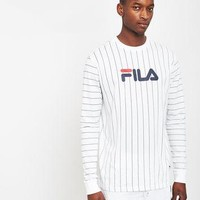 Fila Long Sleeve Stripe T-Shirt White
