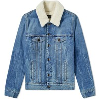 Denim Sheep Jacket by Saint Laurent