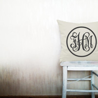 Decorative throw pillows monogram pillow cover monogrammed pillows outdoor pillows throw pillow monogrammed pillow cover 24x24 inches pillow