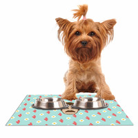 "Juan Paolo ""Give Me All Of The Bacon And Eggs"" Parks & Recreation Dog Place Mat"