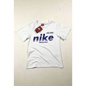 NIKE 2018 couple models trend new cozy fashion short sleeve F-Great Me Store white