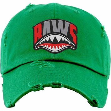 f265b27eaa732 Angry Shark Mouth Baws Kelley Green Dad Hat