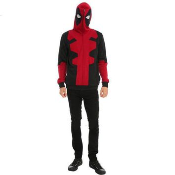 Deadpool Dead pool Taco  Cosplay  Corps Full Zipper Hooded Mask AT_70_6