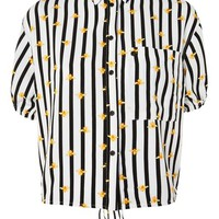 Stripe Bee Shirt - Clothing