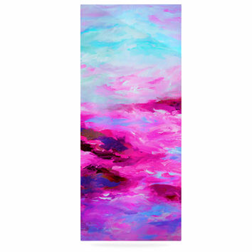 "Ebi Emporium ""Taken By The Undertow 4"" Pink Magenta Luxe Rectangle Panel"
