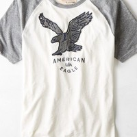 AEO Men's Vintage Applique Graphic T-shirt (Chalk)