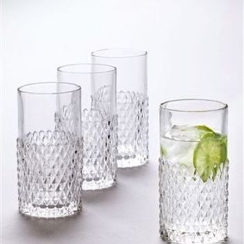 Buy Set of 4 Embossed High Ball Glasses from the Next UK online shop