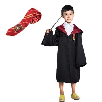 Halloween party harri Cloak Anime Cosplay potter Costume Gryffindor Slytherin Ravenclaw Hufflepuff Black Costumes For Children