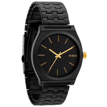 Nixon The Time Teller Watch Matte Black/Gold One Size For Men 20297918201