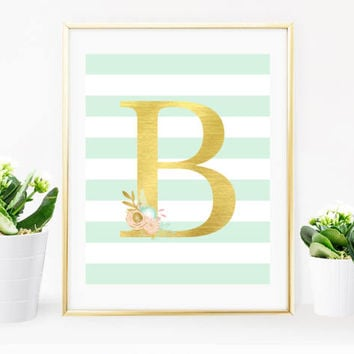Digital Print, Tribal Wall Art, Tribal Decor, Baby Print, Shabby Chic, Tribal Prints, Shabby Chic Letter, Nursery Decor, Nursery Print, Gold