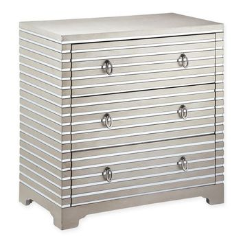 Stein World Foxy 3-Drawer Accent Chest in Silver