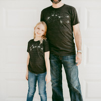 Father's Day Gift - Big Dipper Little Dipper Tshirt set, graphic tees, father son, father daughter, dad and baby, matching shirts