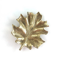 Vintage Brass Maple Leaf by Cambron