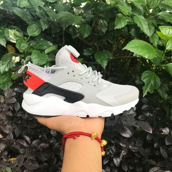 Best Online Sale Nike Air Huarache 4 Rainbow Ultra Breathe Men Women Hurache Grey Running Sport Casual Shoes Sneakers - 102