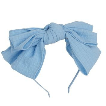 Project 6 NY Sky Blue Floppy Muslin Headband