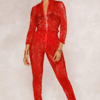 Show Time Sequin Jumpsuit(Ready To Ship)