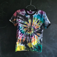 READY TO SHIP! Ringer tie dye tee - medium