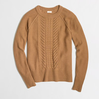 Factory pointelle cable-knit sweater
