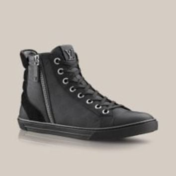 Louis Vuitton Zip Up sneaker boot in Damier Aventure -  - Shoes